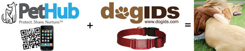 dogIDs PetHub QR Code Pet Tags &amp; Collars